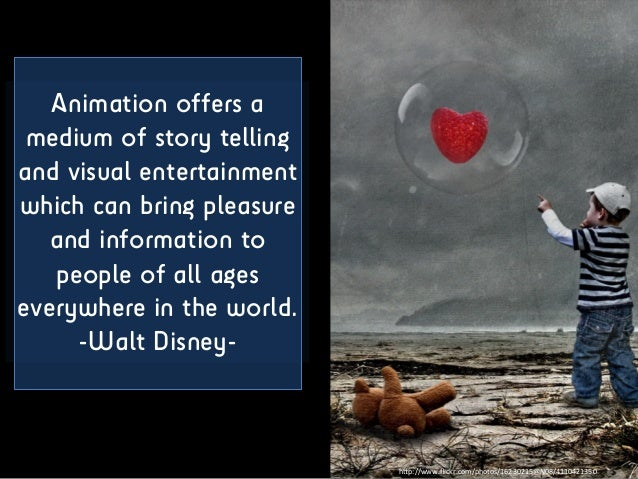 Animation offers a medium of story telling and visual entertainment which can bring pleasure and information to people of ...