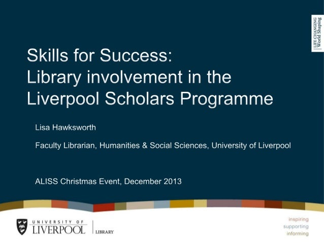University of Liverpool and Widening Participation  One of the most successful Russell Group institutions for WP in degre...