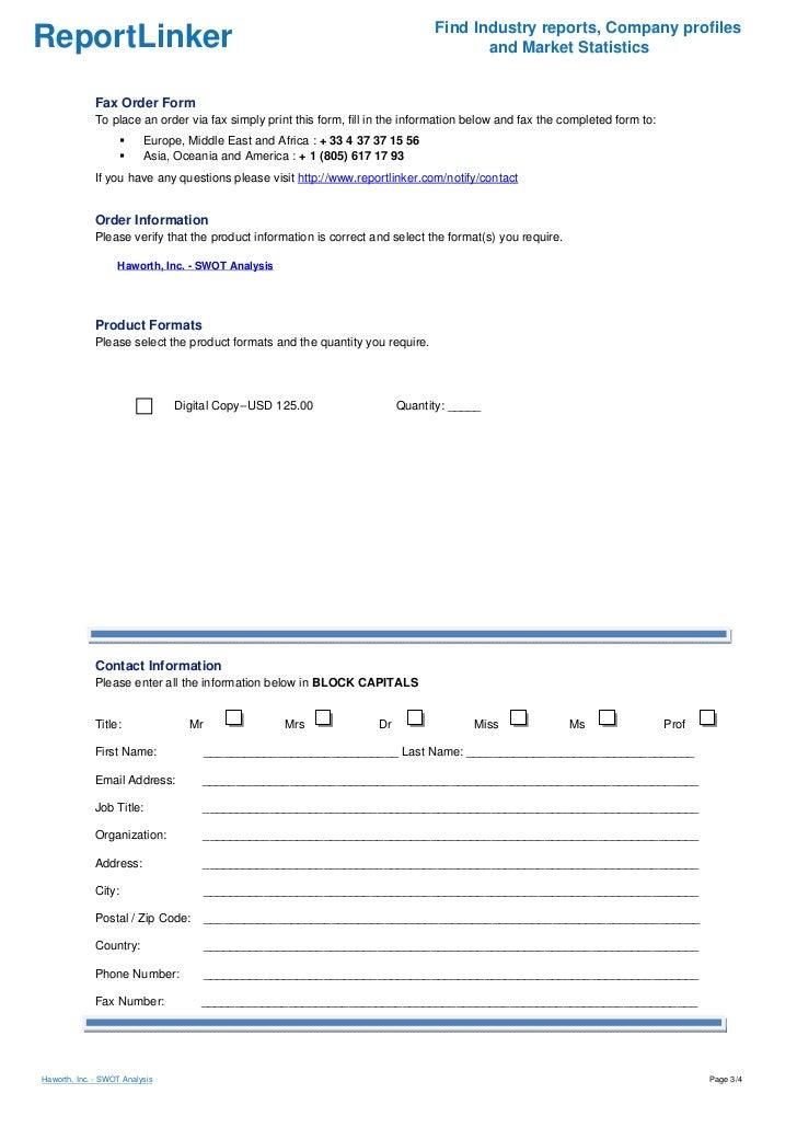 Haworth, Inc. - SWOT Analysis Slide 3