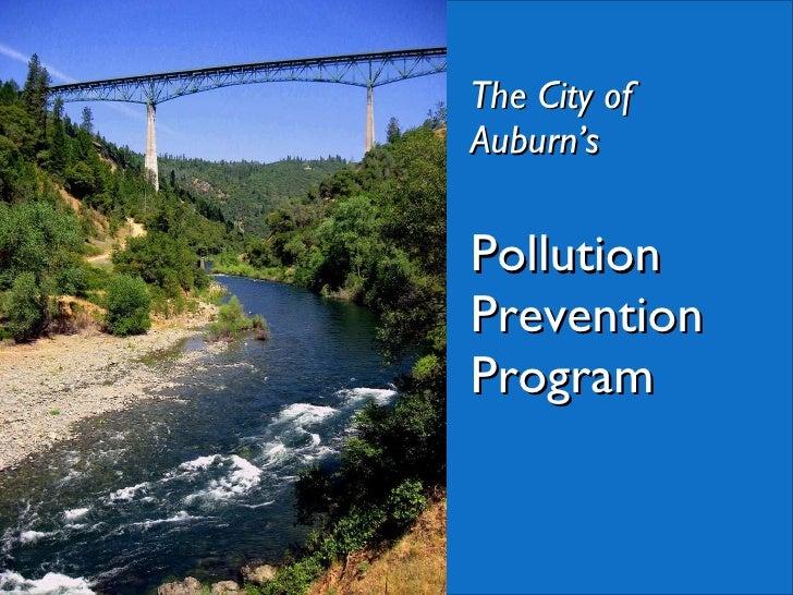 The City of Auburn's Pollution Prevention Program