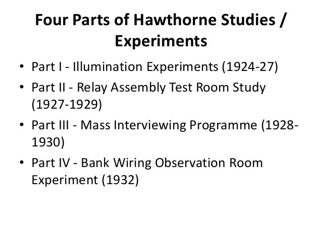 the hawthorn experiment Hawthorne experiment - duration: 1:52 tu talks presents: the hawthorne studies - duration: 29:26 thomas university library 6,477 views 29:26.