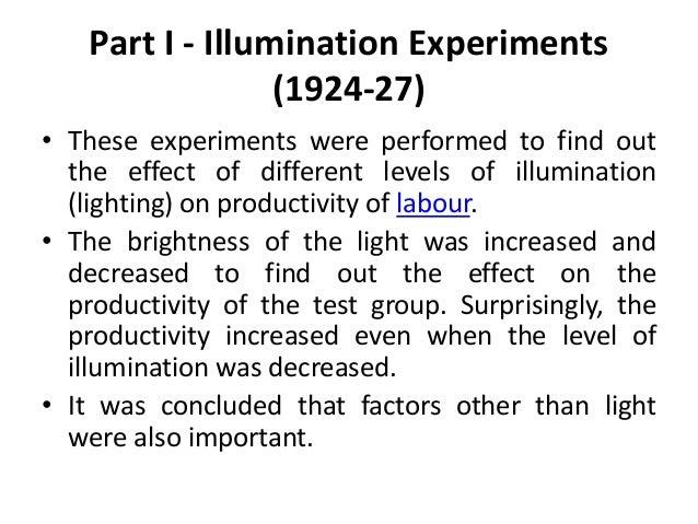 Hawthorne Experiments