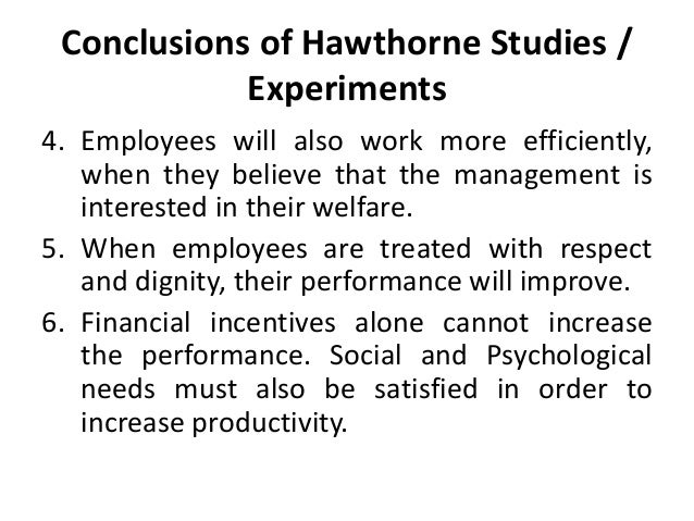 hawthorne effect in management