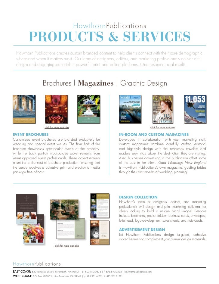 e6978224b1 Products   services Hawthorn Publications creates custom-branded content to  help clients connect with their ...