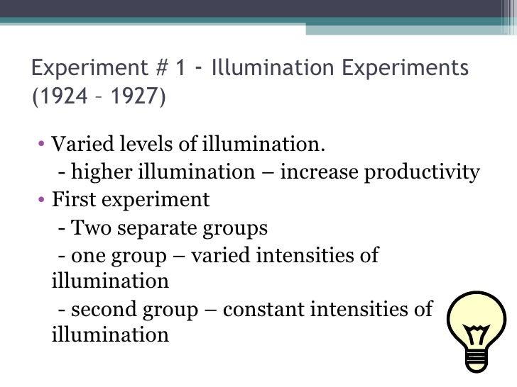 Hawthrone Experiments