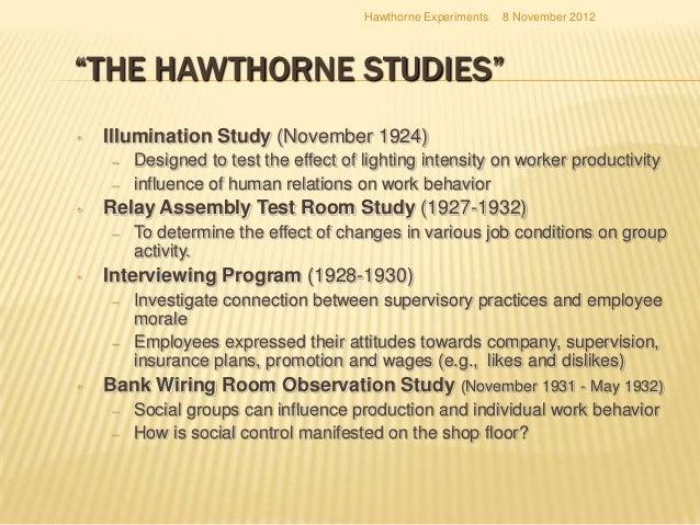 Hawthrone Studies