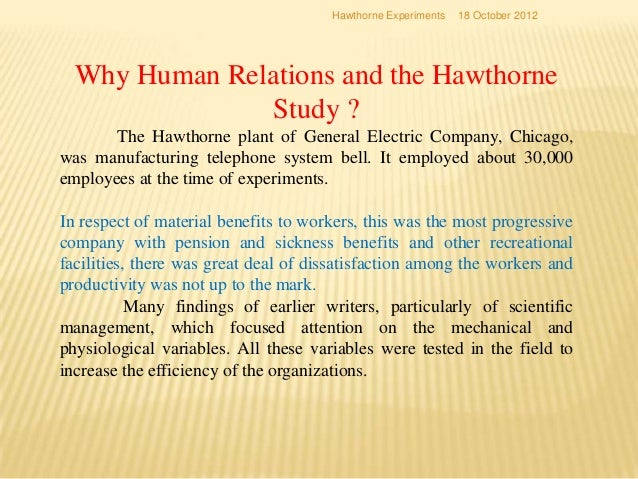hawthorne the myth of the docile worker essay Hawthorne, the myth of the docile worker, and class bias in psychology an essay on the constructivist and contextual nature of science, oxford.