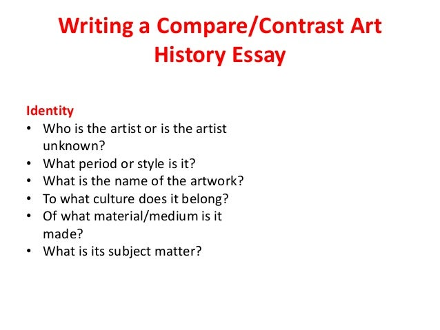 comparison essay for art history