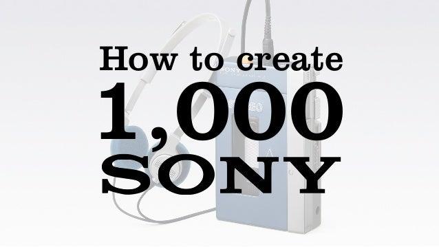 How to create 1,000