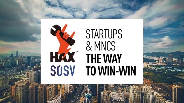 STARTUPS &MNCS THEWAY TOWIN-WIN