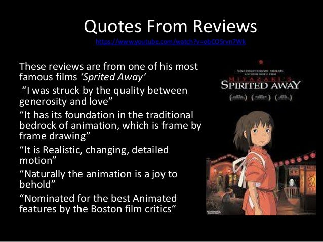 the combination of themes in the movies of hayao miyazaki Studio ghibli feature films and japanese artistic tradition away directed by hayao miyazaki ebert the movie critic has said the film belongs on any list of.