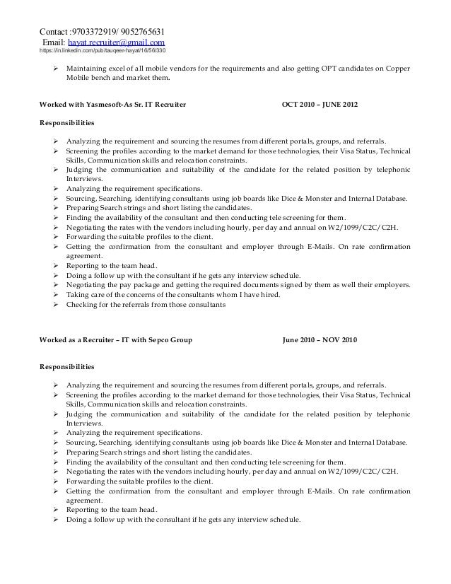 SlideShare  Recruiting Resume
