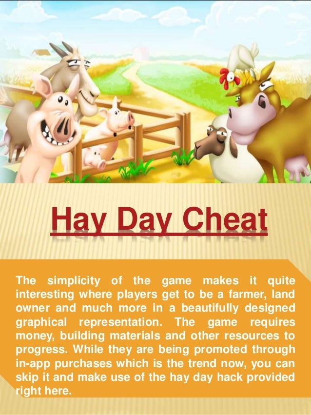 Hay Day Building Materials Cheat