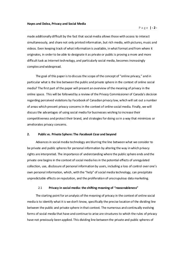 media and privacy essay Introduction the essay at hand deals with four major new media aspects: social media, constructivism, privacy and security the nature of these aspects and.