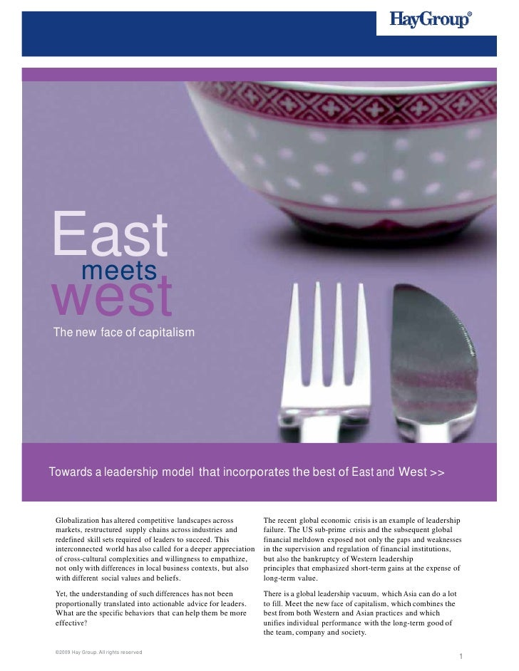 East     meets    west    The new face of capitalism    Towards a leadership mo...