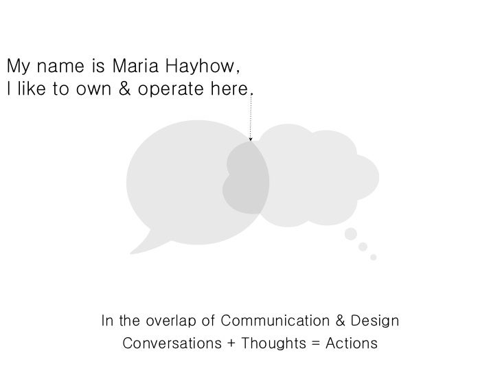 My name is Maria Hayhow,I like to own & operate here.           In the overlap of Communication & Design               Con...