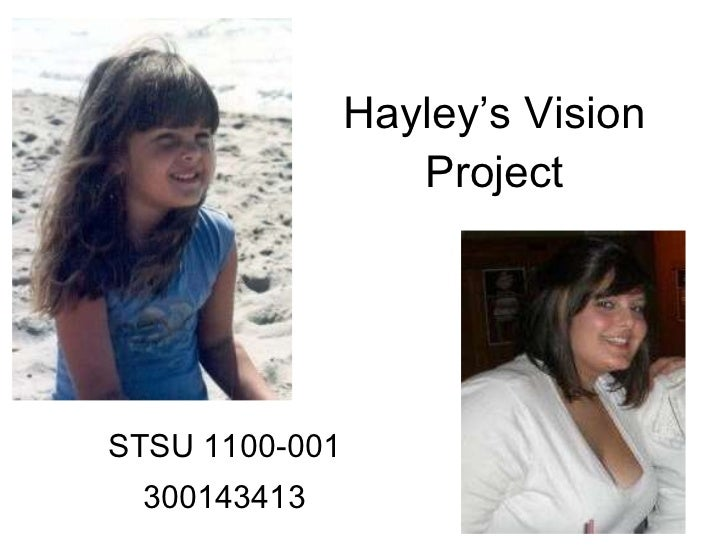 Hayley's Vision Project STSU 1100-001 300143413