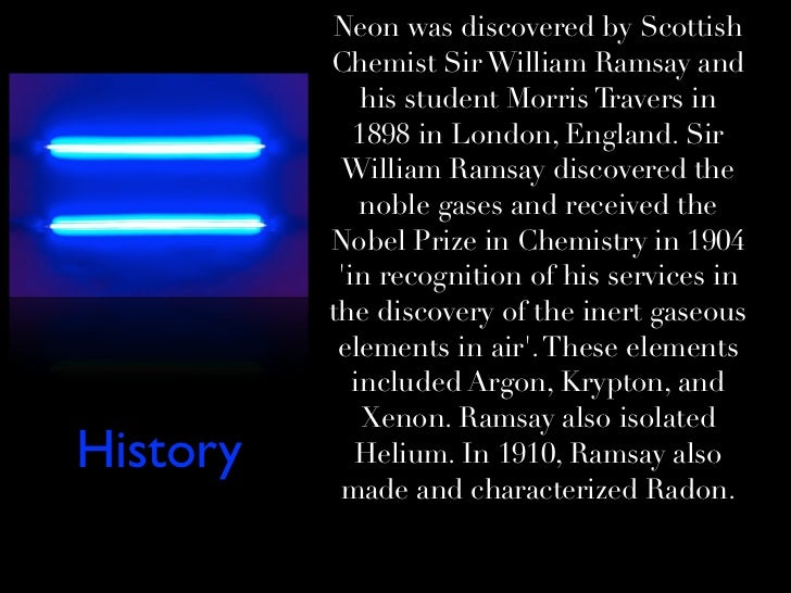 the discovery of neon