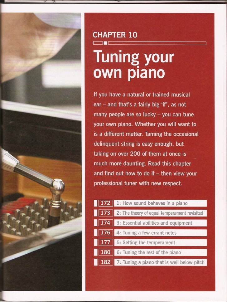 Haynes piano manual tuning