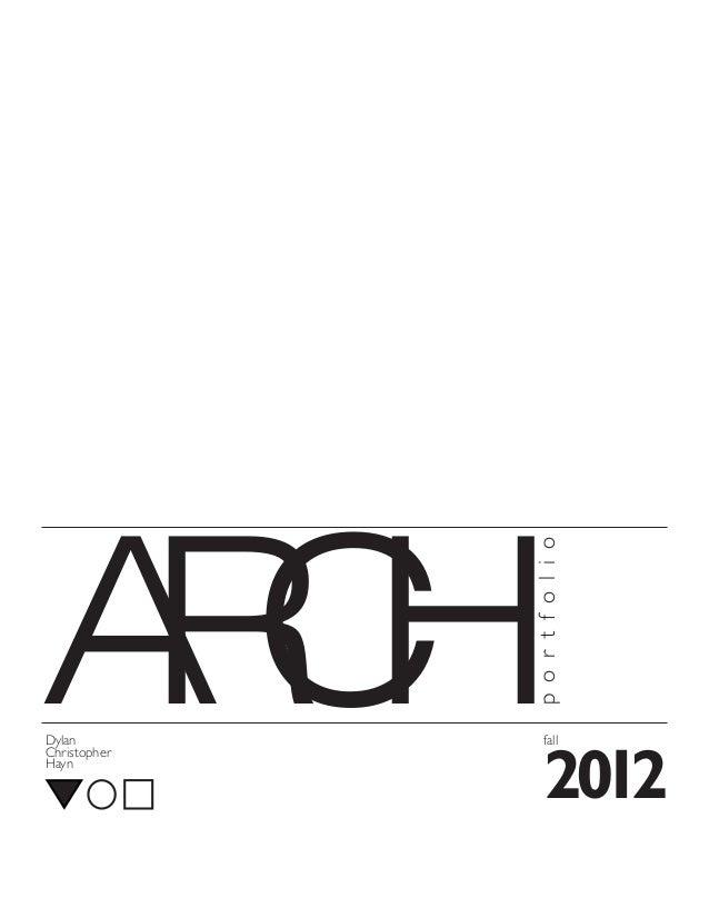 AC RH              p o r t f o l i oDylan             fallChristopherHayn                  2012