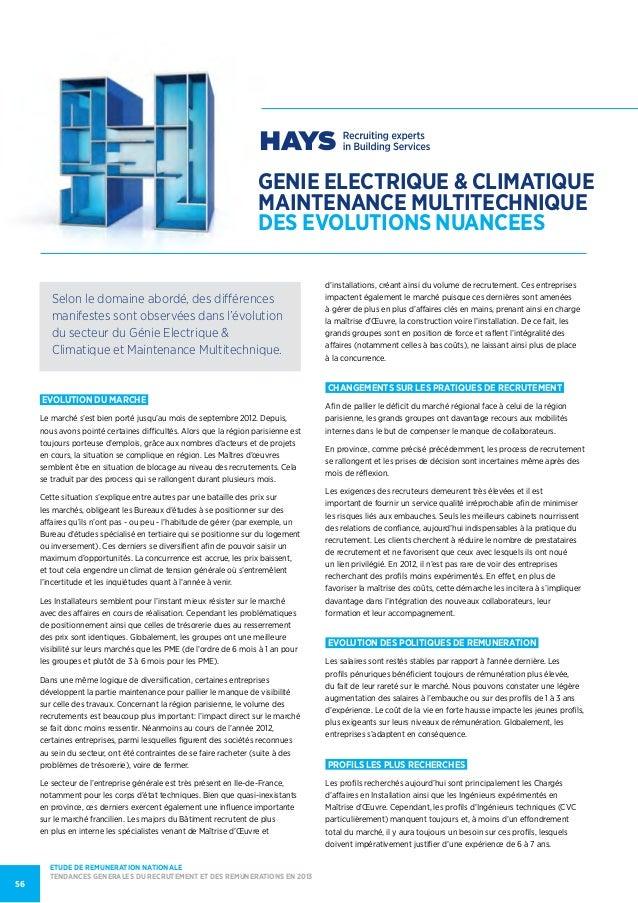 genie ELECTRIQUE & climatiquemaintenance multitechniquedes evolutions nuanceesEvolution du marcheLe marché s'est bien port...