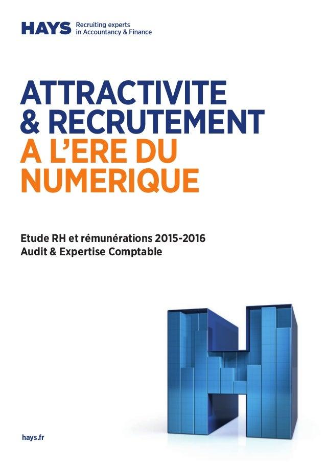 Hays etude rh et remunerations 2015 2016 audit et - Cabinet d audit et d expertise comptable ...