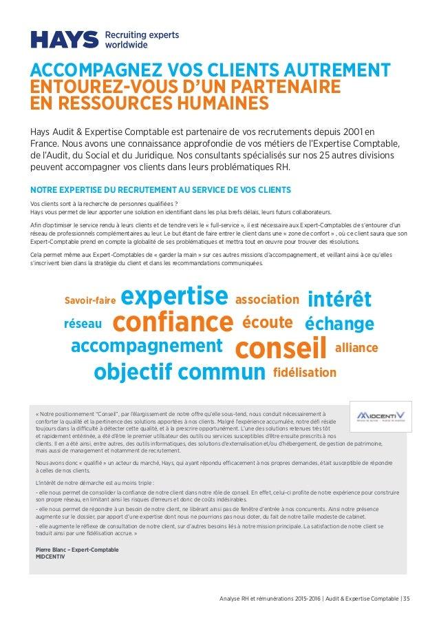 Hays Etude Rh Et Remunerations 2015 2016 Audit Et