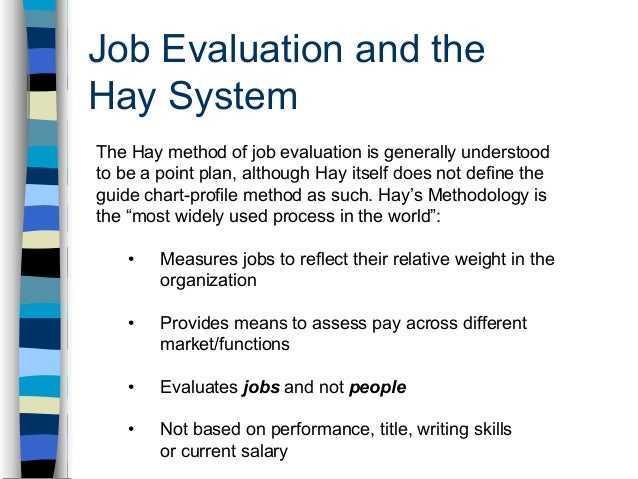 job evaluation and job structured essay Quantitative methods of job evaluation  (1972) is a structured job analysis instrument to measure job characteristics and relate them to human characteristics.