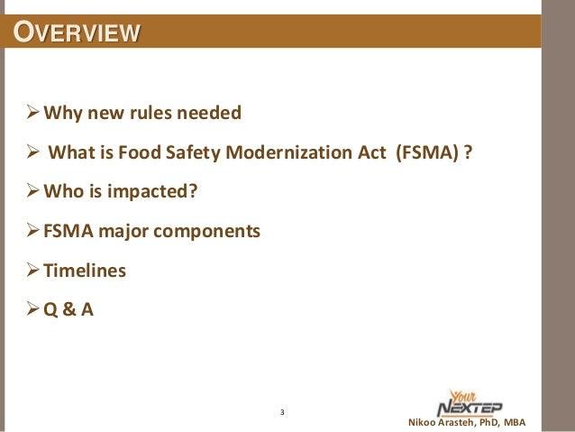 safety food modernization act fda implement ready rules