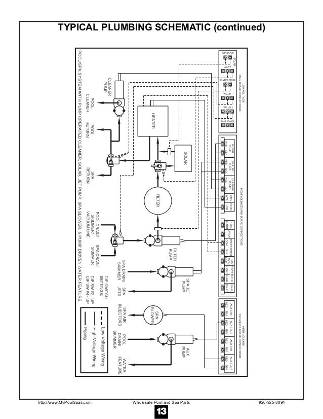 hayward controls 2100 13 typical plumbing schematic