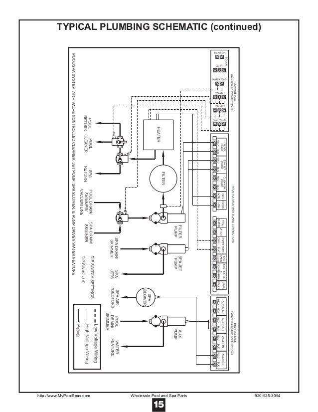 hayward controls 2100 15 typical plumbing schematic