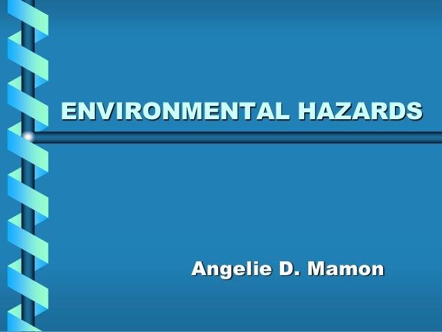 ENVIRONMENTAL HAZARDS Angelie D. Mamon