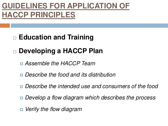 hazard analysis and critical control points 2 essay The hazard analysis and critical control point (haccp) process allows producers to converse with wholesale food processing customers using the same food safety blueprint and language haccp works at the producer level as it does for customers receiving on-farm products it requires producers to .