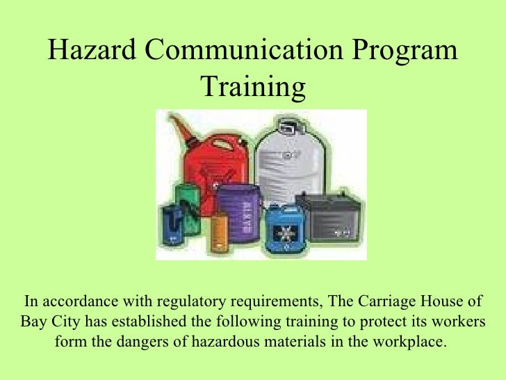 Hazard Communication Program Osha Training
