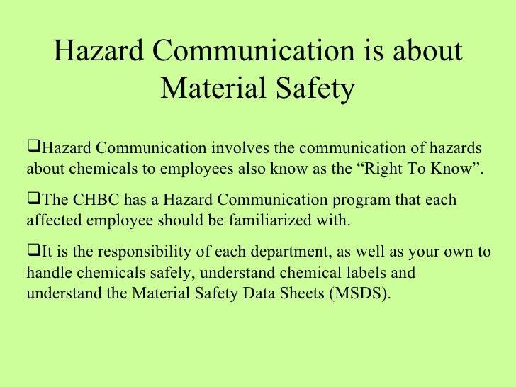 Hazard Communication Program Osha Training