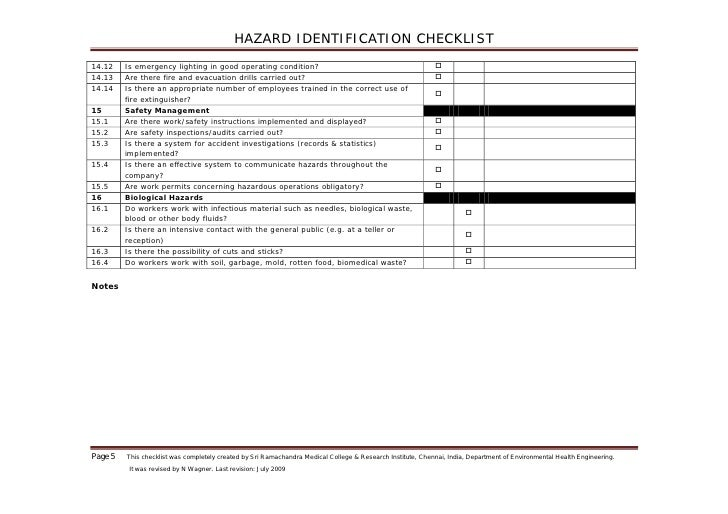 how to write a report on hazard identification
