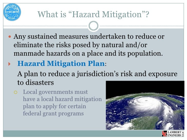 Mitigation Measures Of Natural Disasters