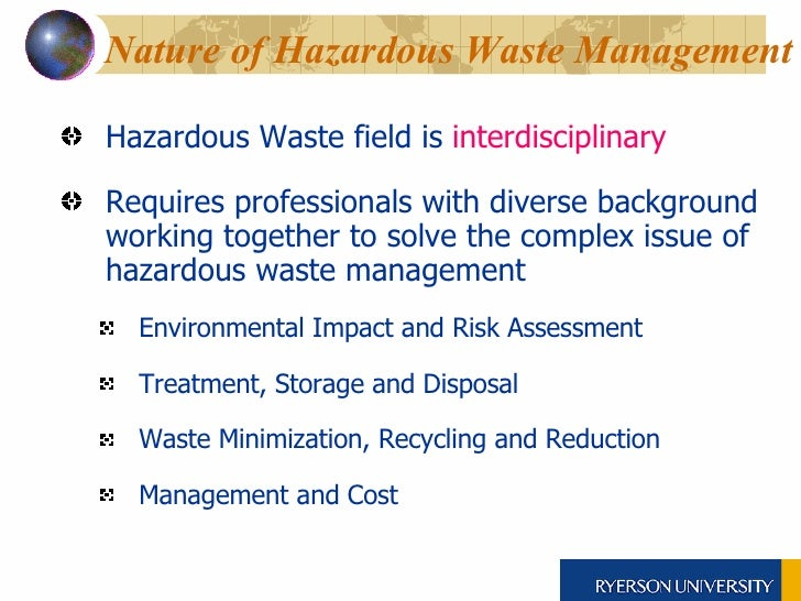 ... 5. Nature Of Hazardous Waste Management ...