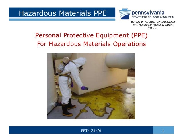 Hazardous materials ppe by paths hazardous materials ppe personal protective equipment ppe for hazardous materials operations 1ppt 121 publicscrutiny Gallery