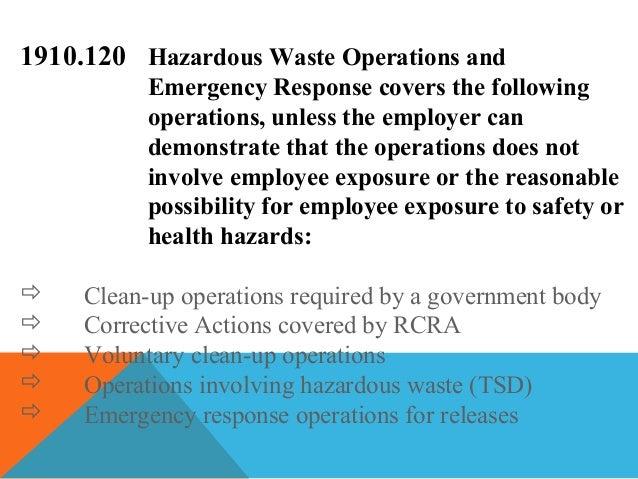 Understanding Hazardous Materials, Operations, and Emergency Response