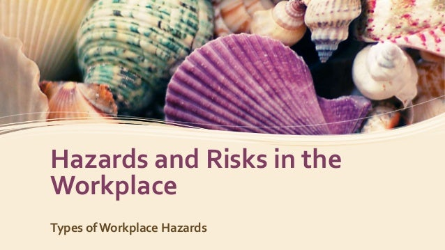 Hazards and Risks in the Workplace Types of Workplace Hazards