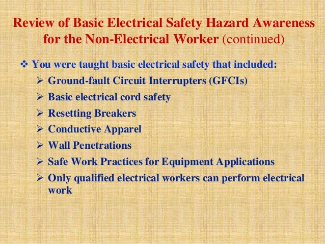 All about workplace electrical safety ppt video online download.