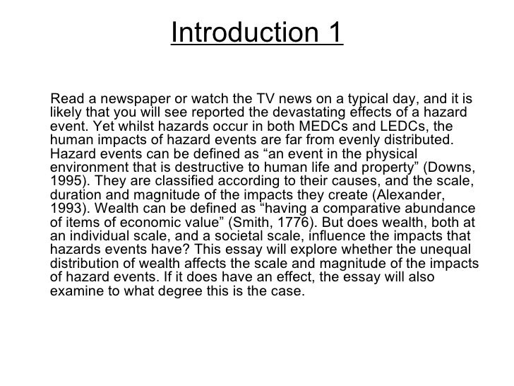 hazards essay introduction introduction