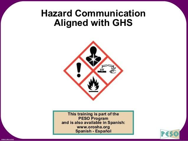 Hazard Communication Aligned with GHS by Oregon OSHA