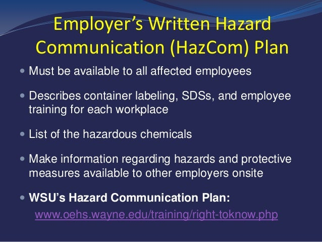 OSHA Hazard Communication and Global Harmonization System (GHS)