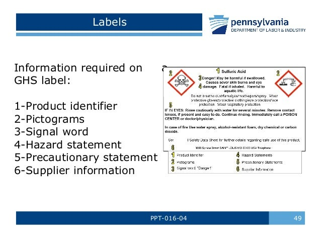 Understanding the msds / sds safety training power point.