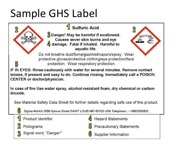 Sds Label Training Ordekgreenfixenergyco - Ghs label template