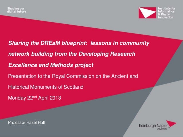 Sharing the DREaM blueprint: lessons in communitynetwork building from the Developing ResearchExcellence and Methods proje...