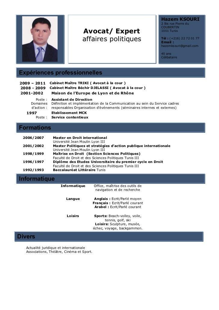 exemple de cv juriste en droit social