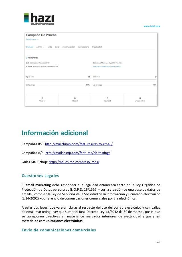 Guía básica de MailChimp